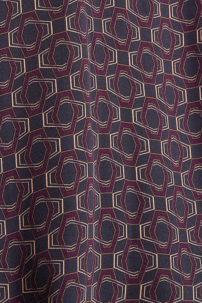 Blouse met fijne print, LENZING™ ECOVERO™, NAVY, detail image number 4