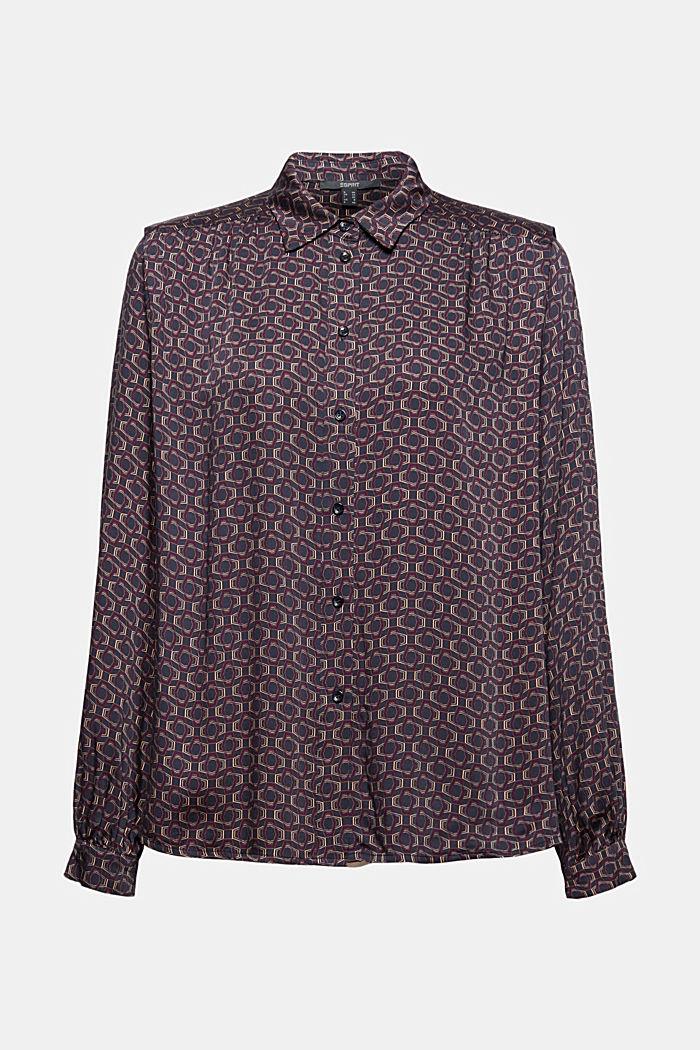 Bluse mit Minimal-Print, LENZING™ ECOVERO™