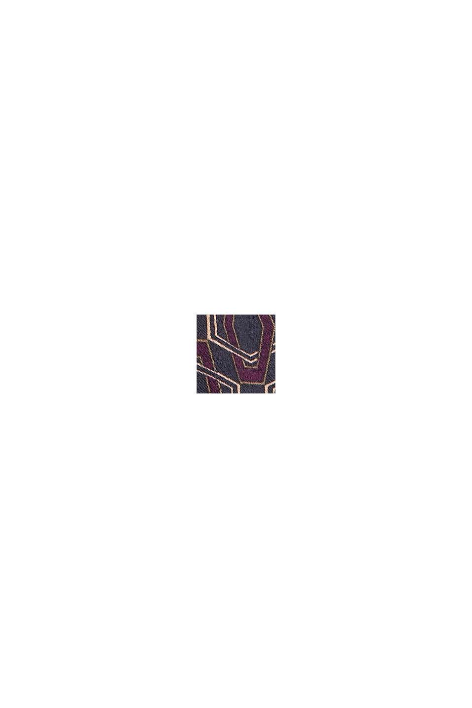 Bluse mit Minimal-Print, LENZING™ ECOVERO™, NAVY, swatch