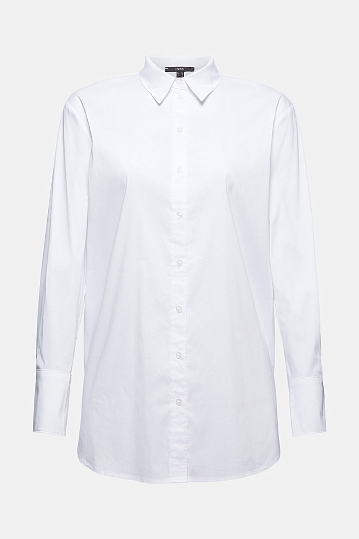 Overhemdblouse van een katoenmix