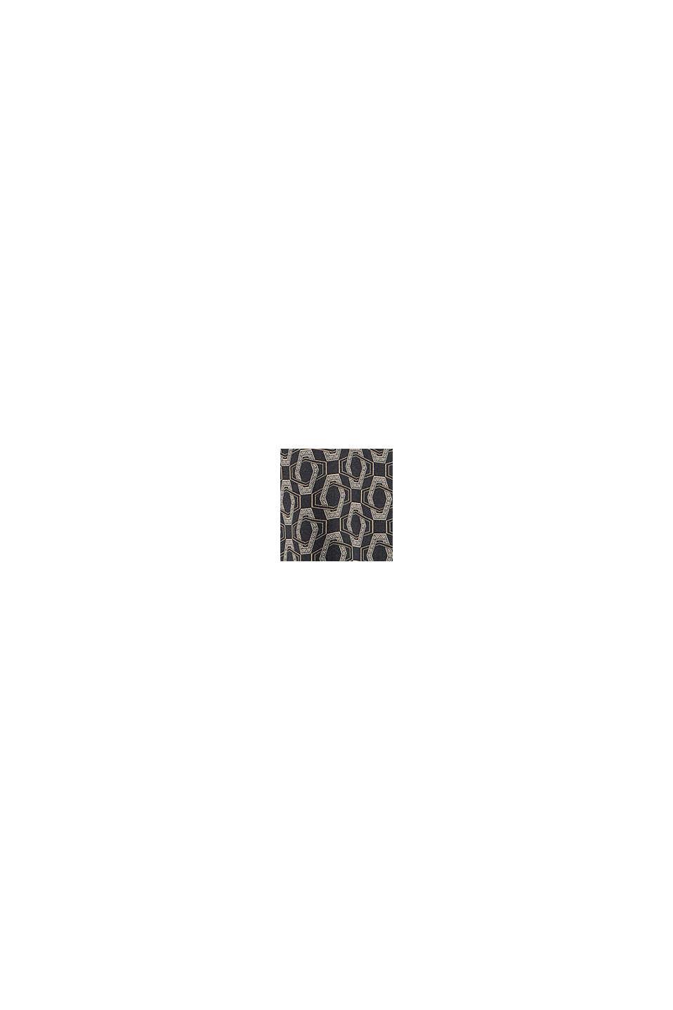 Satin-Bluse mit Print, LENZING™ ECOVERO™, BLACK, swatch