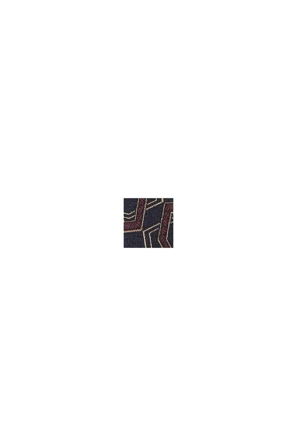 Satin-Bluse mit Print, LENZING™ ECOVERO™, NAVY, swatch