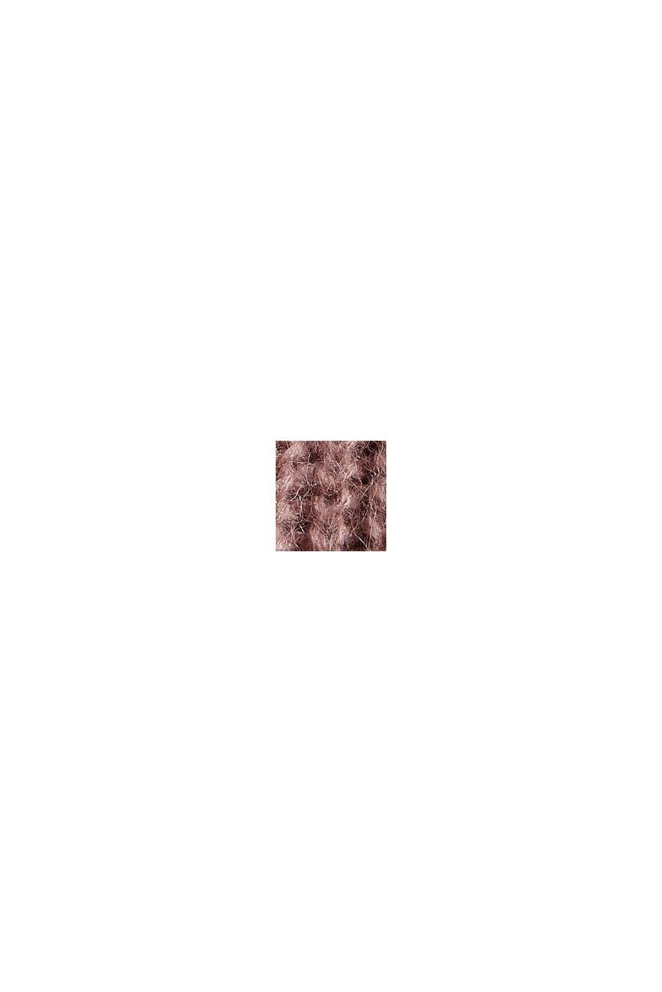 Mit Alpaka: Pullover mit Struktur, OLD PINK, swatch