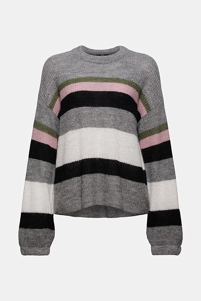Mit Wolle/Alpaka: Pullover mit Ballonärmeln