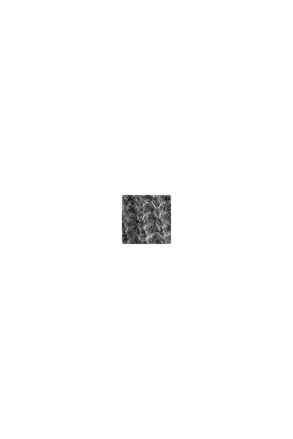 Mit Wolle/Alpaka: Pullover mit Ballonärmeln, GUNMETAL, swatch