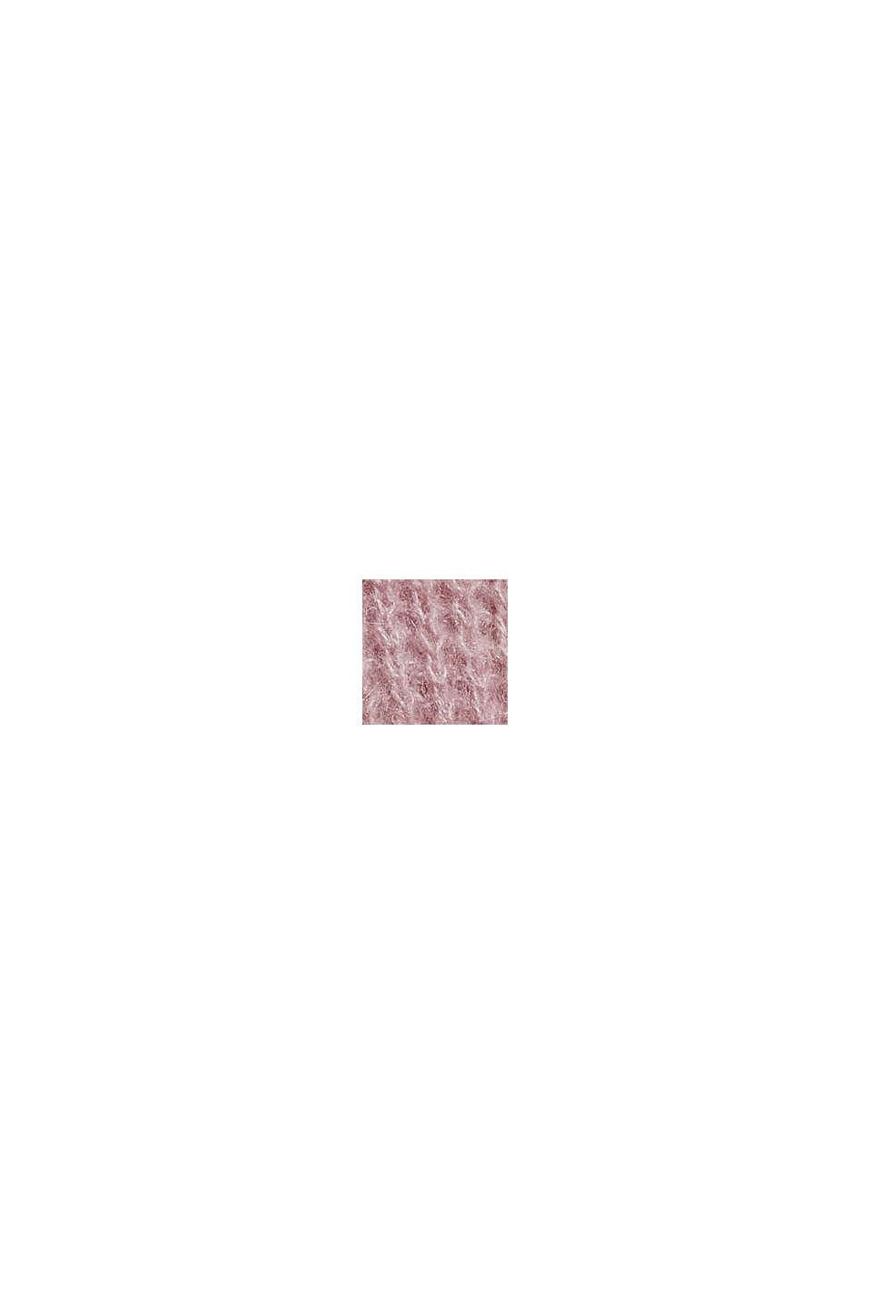 Mit Wolle/Alpaka: Pullover mit Ballonärmeln, OLD PINK, swatch