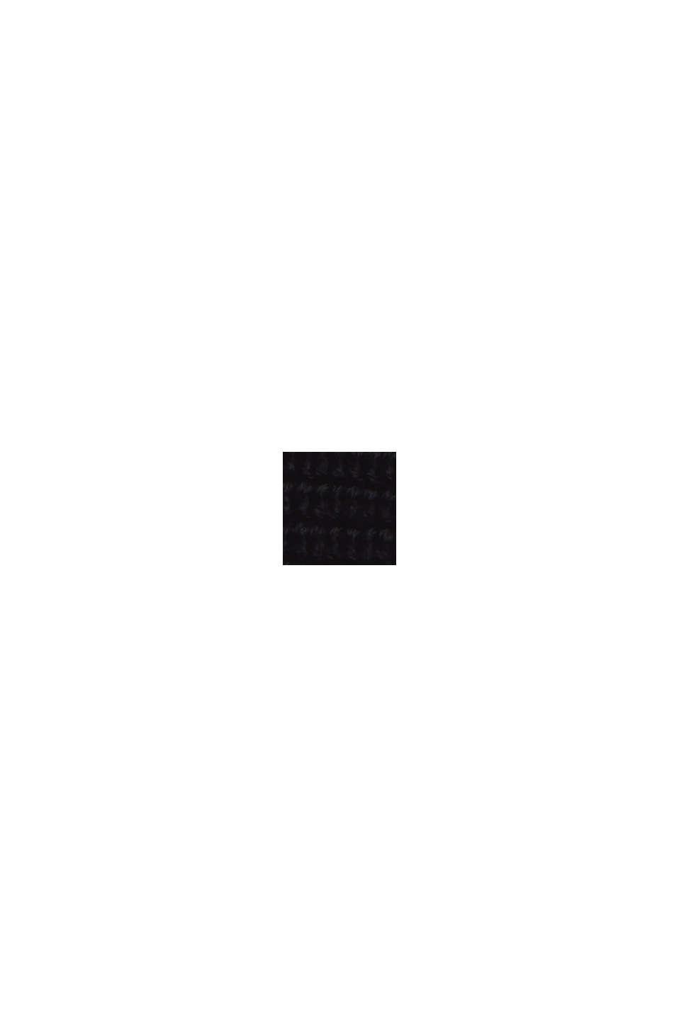 Pullover dolcevita in misto cotone biologico, BLACK, swatch