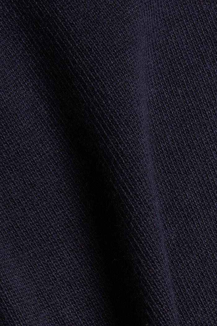 À teneur en laine et en cachemire:le gilet en maille, NAVY, detail image number 4