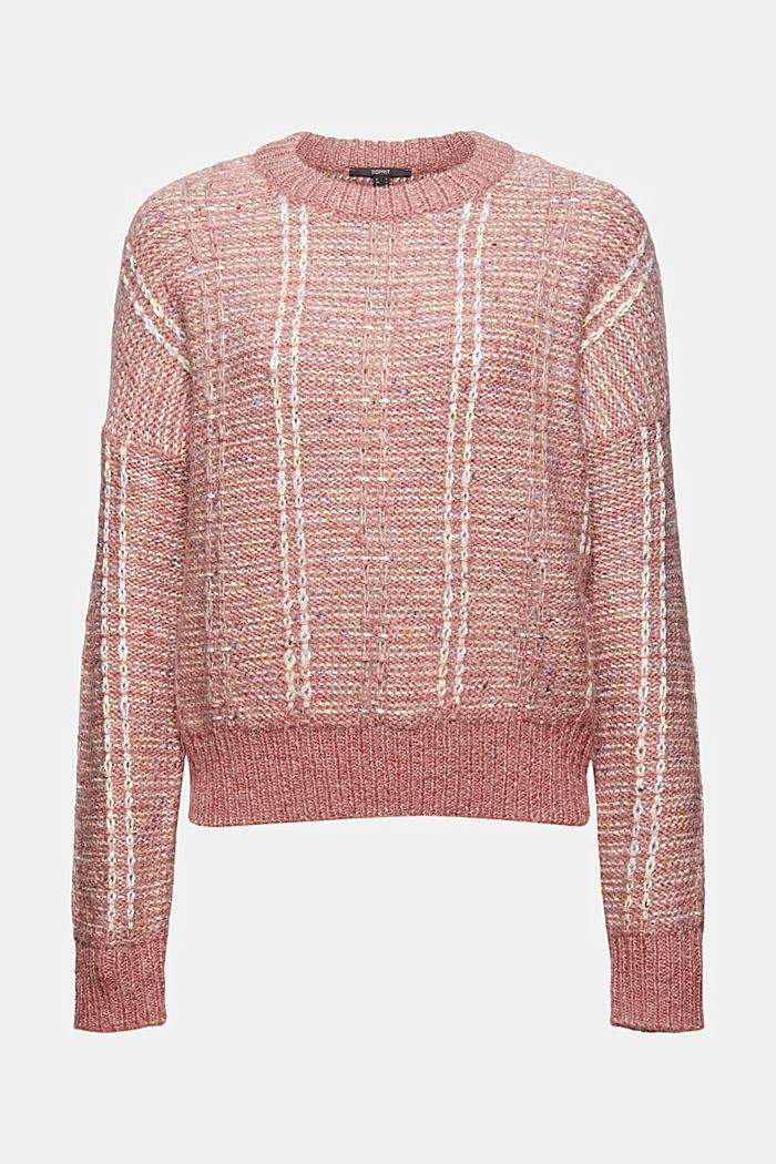 Mit Wolle: Multicolor-Pullover aus Mouline
