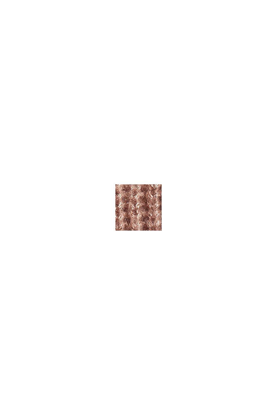 Mit Wolle: Pullover mit Glitzer-Garn, OLD PINK, swatch