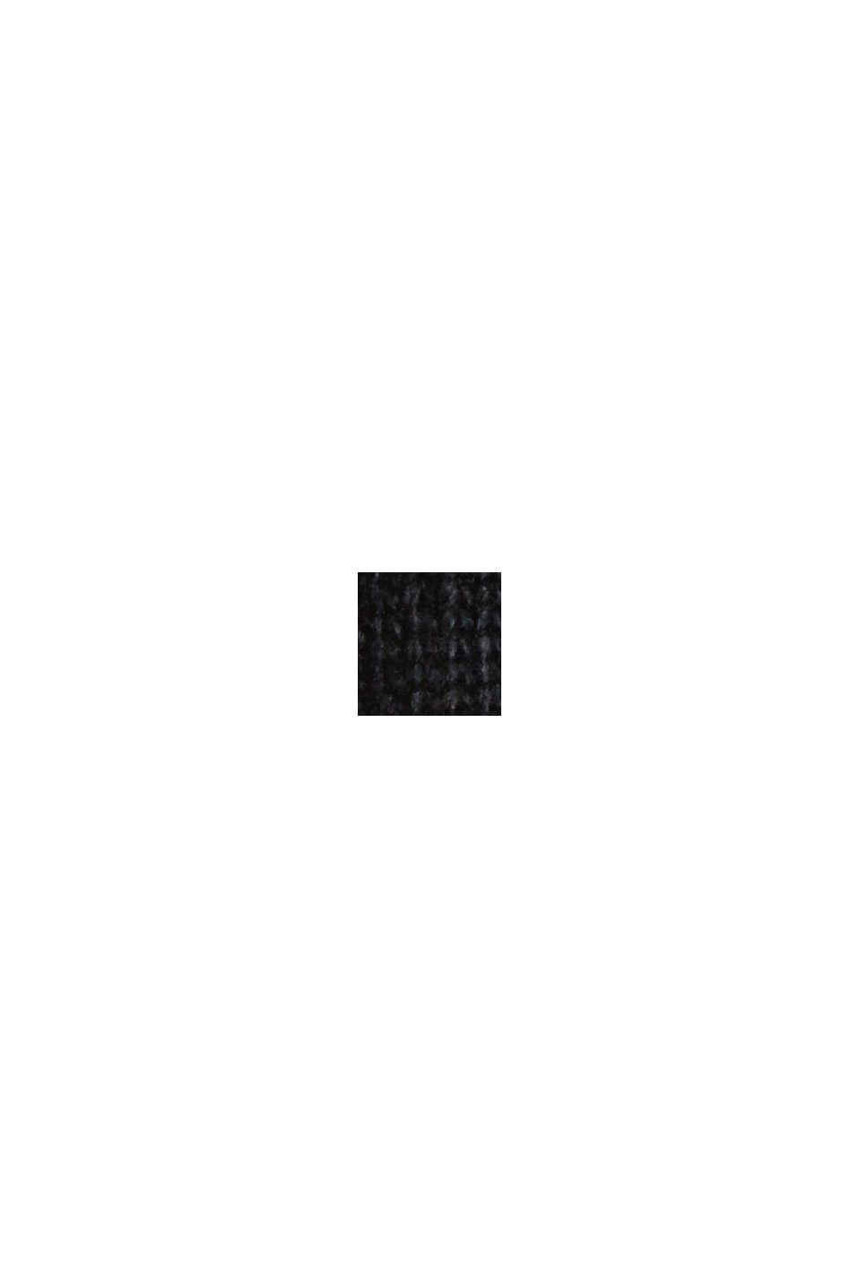 Med ull/kaschmir: tröja med ståkrage, BLACK, swatch