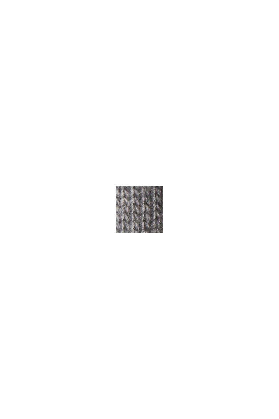 Med ull/kaschmir: tröja med ståkrage, MEDIUM GREY, swatch