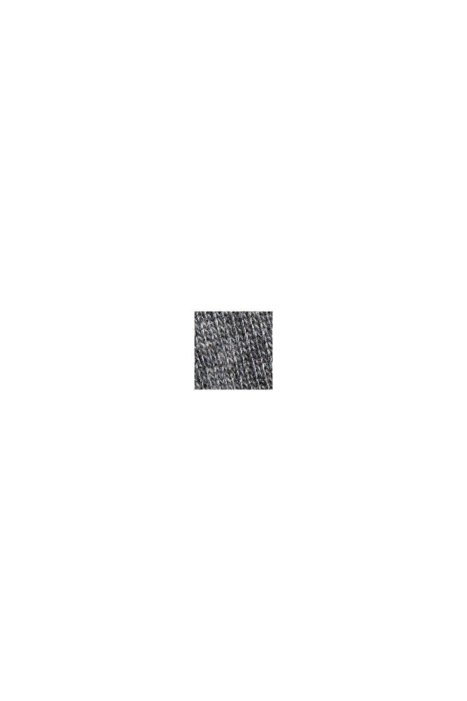 Med ull/kaschmir: tröja med ståkrage, NEW MEDIUM GREY, swatch