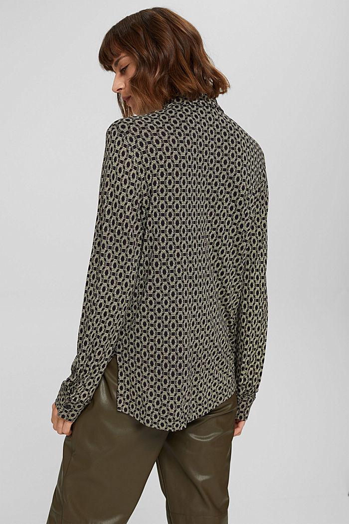 Longsleeve in een blouseachtige look, LENZING™ ECOVERO™, BLACK, detail image number 3