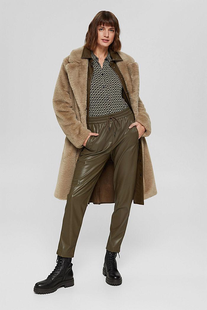Longsleeve in een blouseachtige look, LENZING™ ECOVERO™, BLACK, detail image number 1