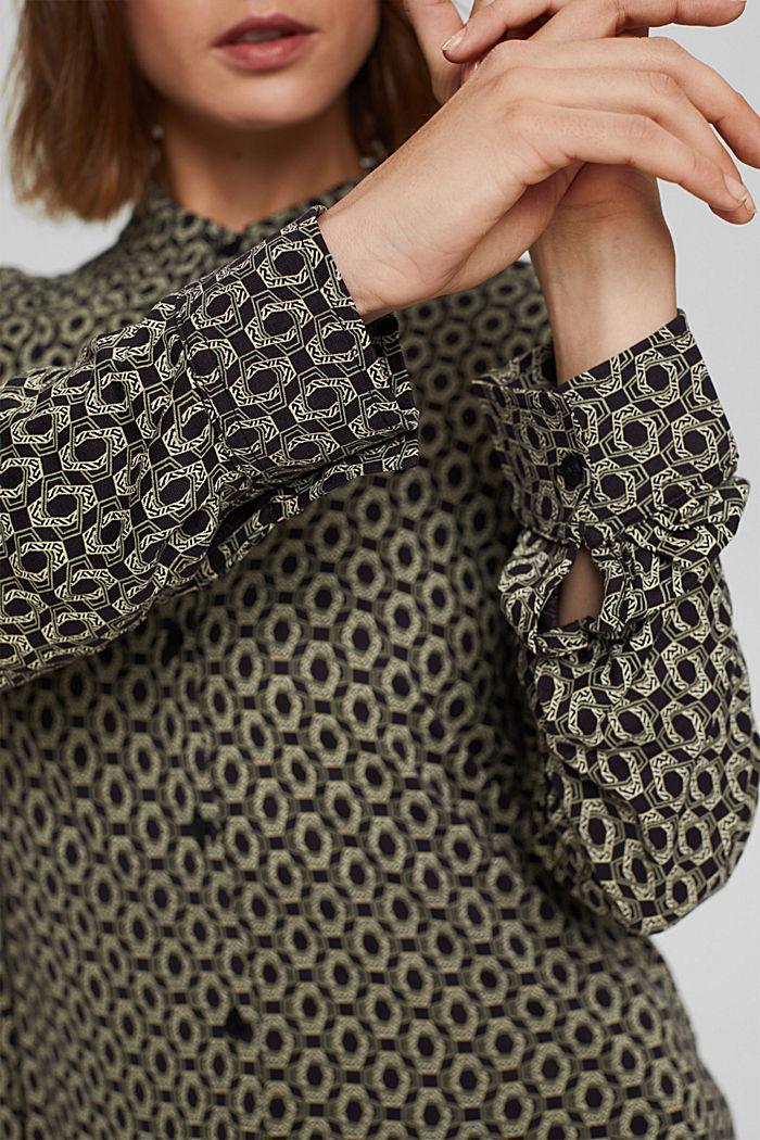 Longsleeve in een blouseachtige look, LENZING™ ECOVERO™, BLACK, detail image number 2