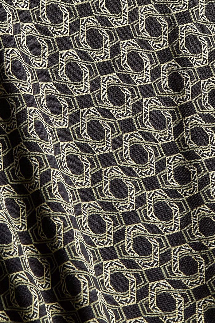 Longsleeve in een blouseachtige look, LENZING™ ECOVERO™, BLACK, detail image number 4