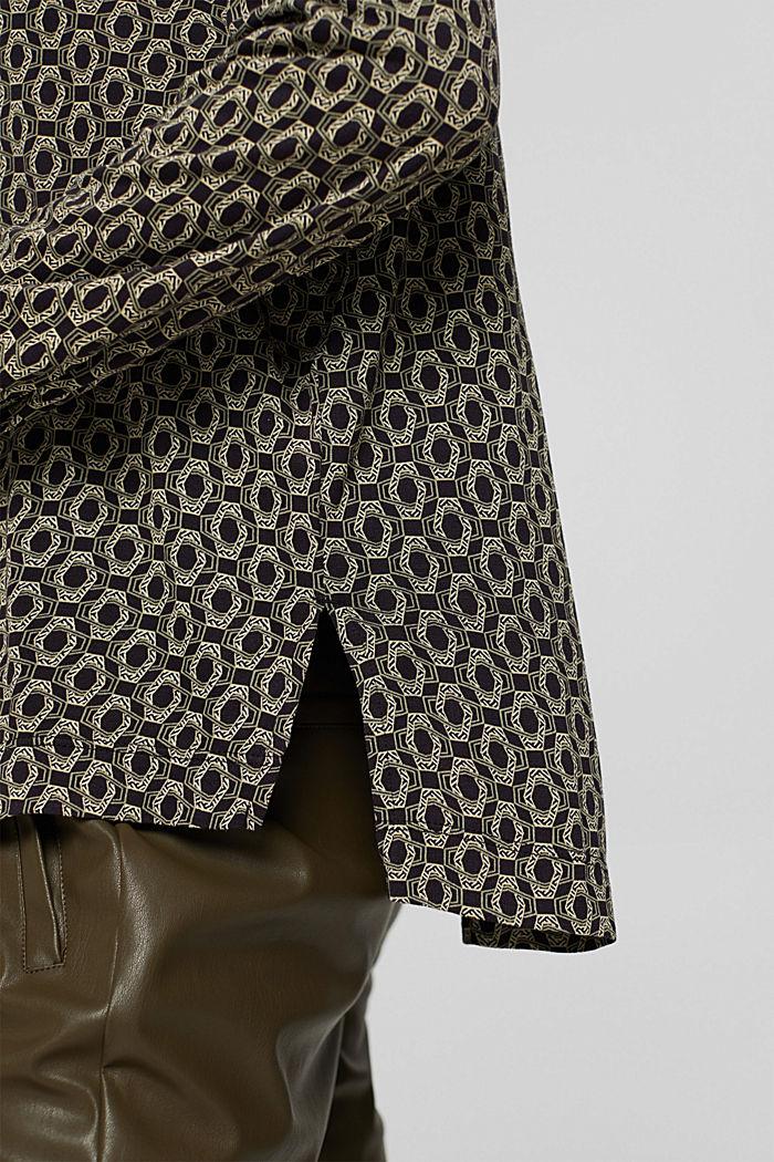 Longsleeve in een blouseachtige look, LENZING™ ECOVERO™, BLACK, detail image number 5