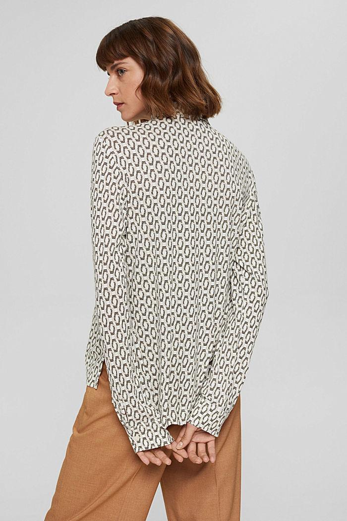 Camiseta de manga larga estilo blusa, LENZING™ ECOVERO™, OFF WHITE, detail image number 3