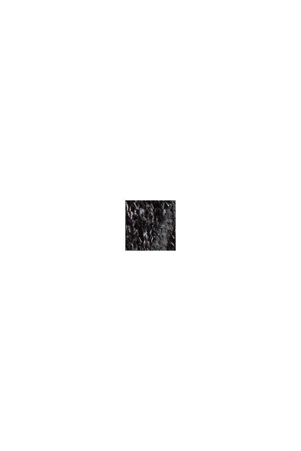 Strickpullover mit Print und Pailletten, BLACK, swatch