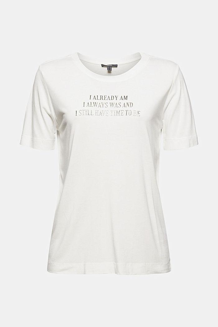 T-Shirt mit Schriftzug, LENZING™ ECOVERO™