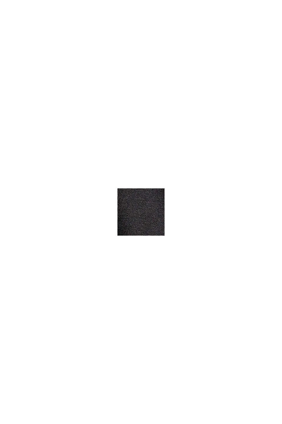 Longsleeve mit Rüschen, LENZING™ ECOVERO™, BLACK, swatch