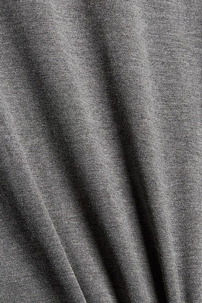 Camiseta de manga larga con volantes, LENZING™ ECOVERO™, MEDIUM GREY, detail image number 4