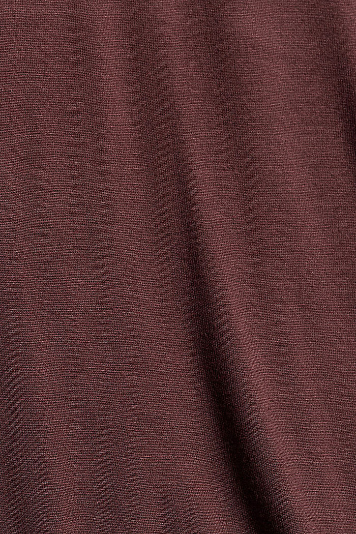 Camiseta de manga larga con volantes, LENZING™ ECOVERO™, BORDEAUX RED, detail image number 4