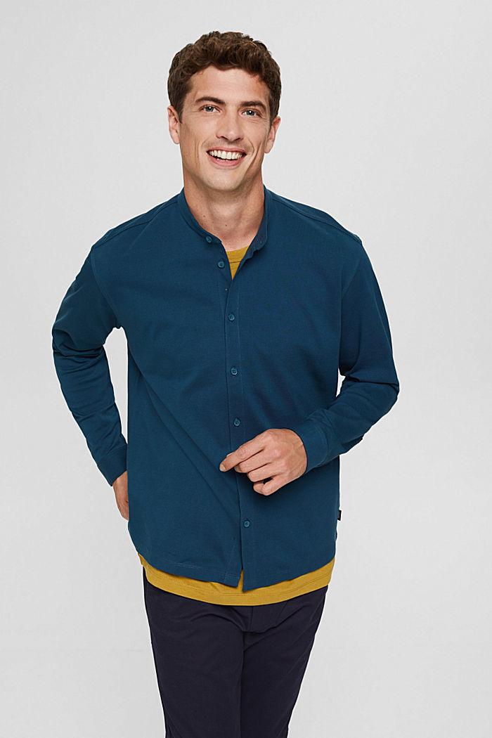 Shirts knitted Regular Fit, PETROL BLUE, detail image number 0