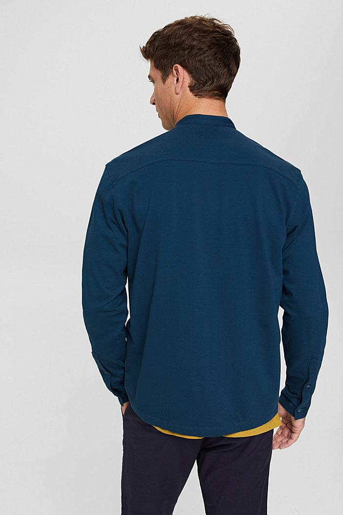 Shirts knitted Regular Fit, PETROL BLUE, detail image number 3