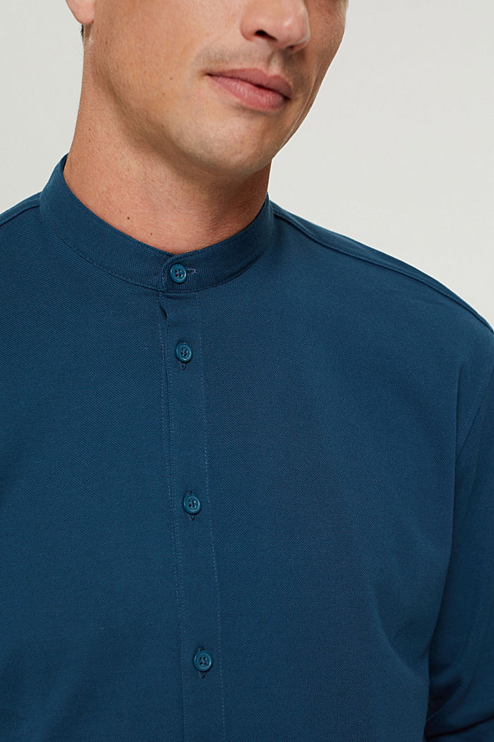 Shirts knitted Regular Fit, PETROL BLUE, detail image number 1
