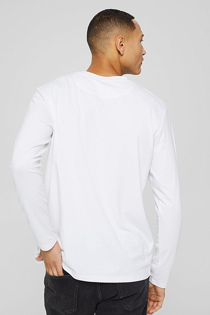 Jersey long sleeve top with COOLMAX®, WHITE, detail image number 3