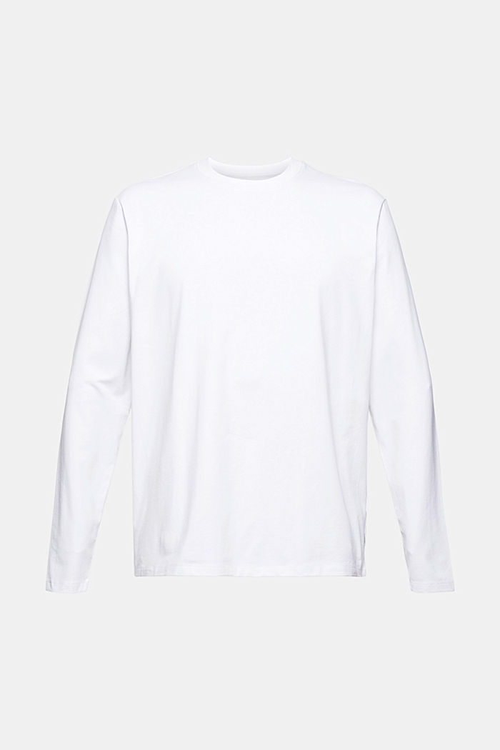 Jersey long sleeve top with COOLMAX®, WHITE, detail image number 7
