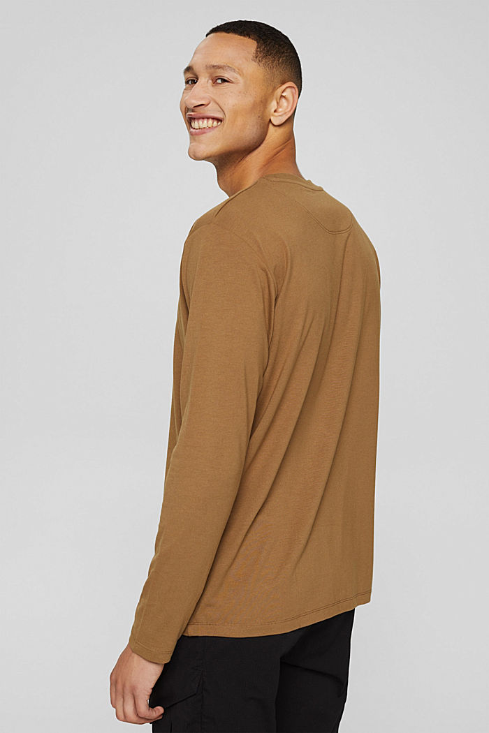 Jersey long sleeve top with COOLMAX®, BARK, detail image number 3