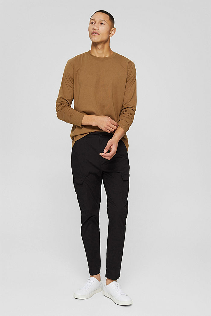 Jersey long sleeve top with COOLMAX®, BARK, detail image number 4