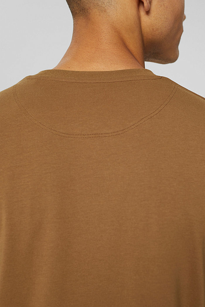 Jersey long sleeve top with COOLMAX®, BARK, detail image number 1