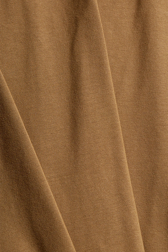 Jersey long sleeve top with COOLMAX®, BARK, detail image number 5