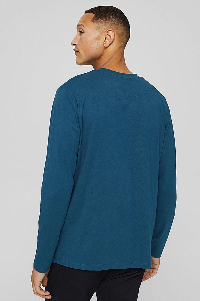 T-shirt à manches longues en jersey doté de la technologie COOLMAX®, PETROL BLUE, detail image number 3