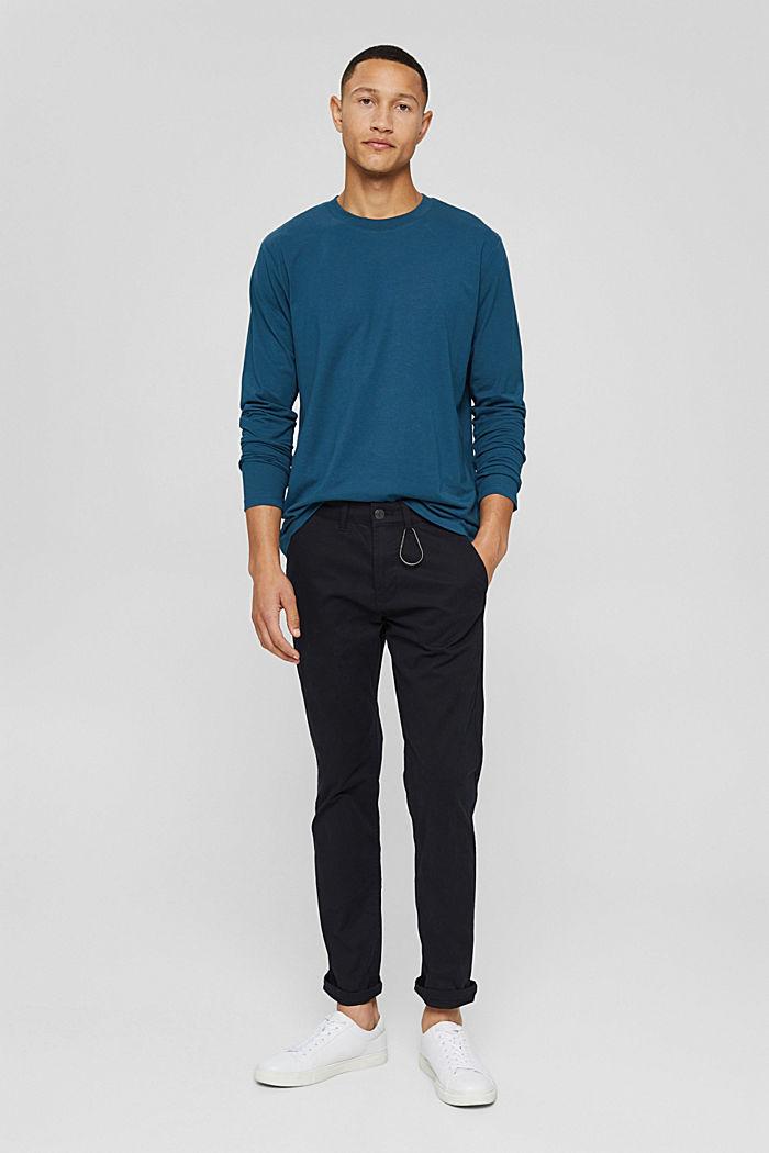 T-shirt à manches longues en jersey doté de la technologie COOLMAX®, PETROL BLUE, detail image number 5