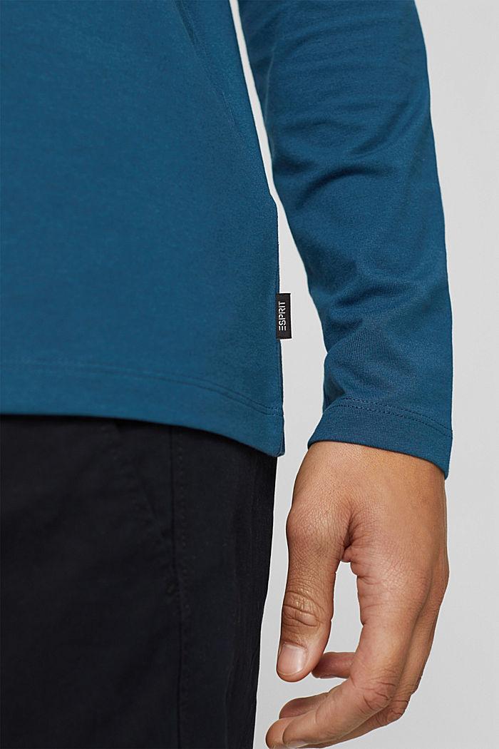 Camiseta de manga larga en jersey con COOLMAX®, PETROL BLUE, detail image number 1