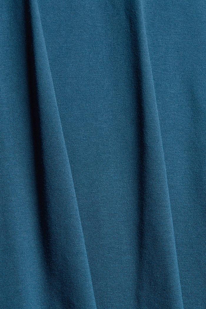 Camiseta de manga larga en jersey con COOLMAX®, PETROL BLUE, detail image number 4