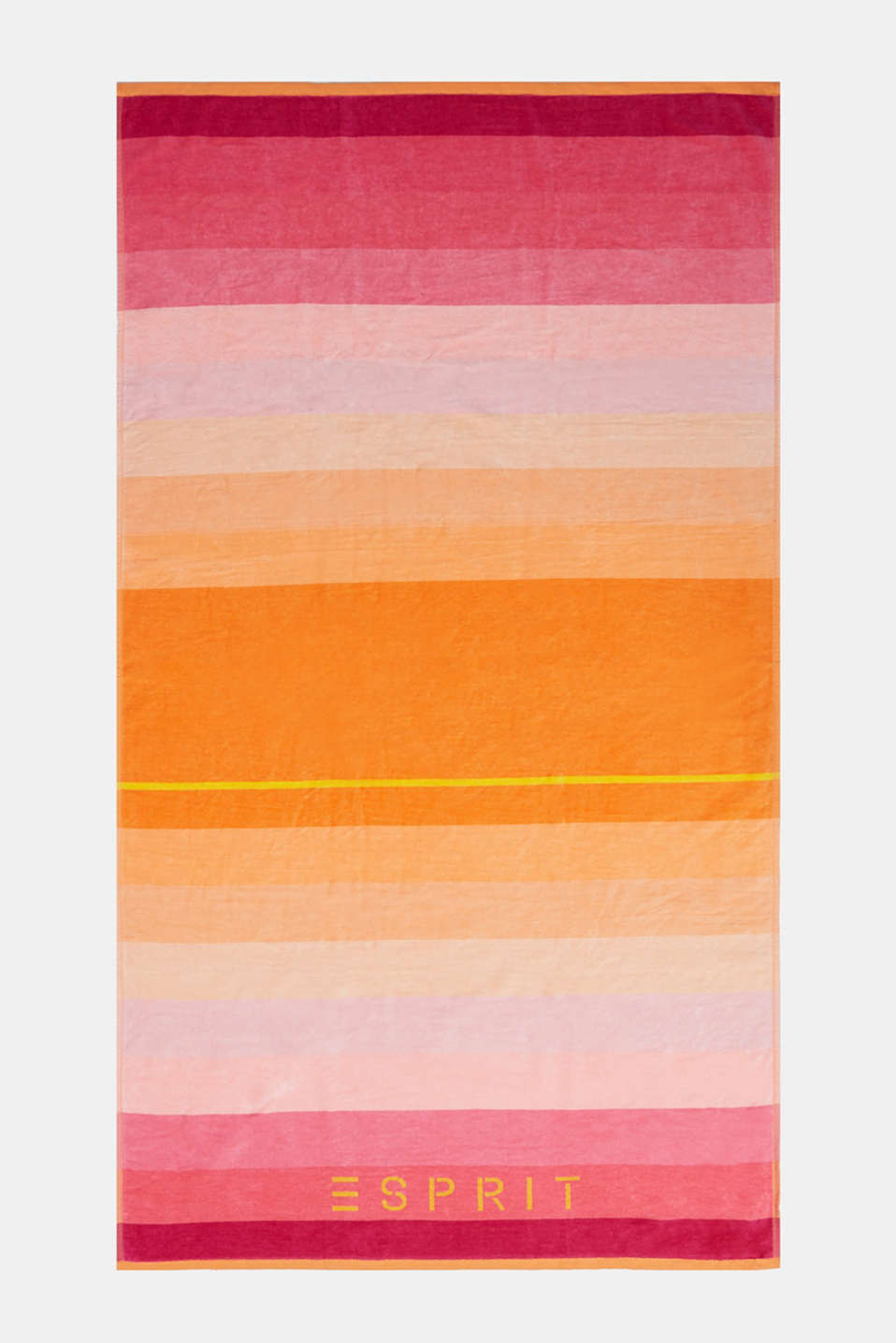 Beach towel with logo print, cotton, PINK, detail image number 0