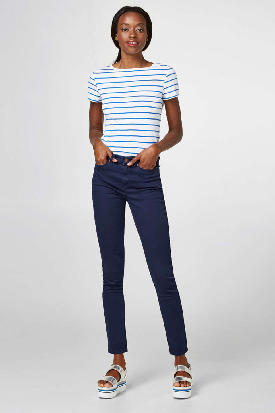 edc - Pantaloni basic in cotone stretch