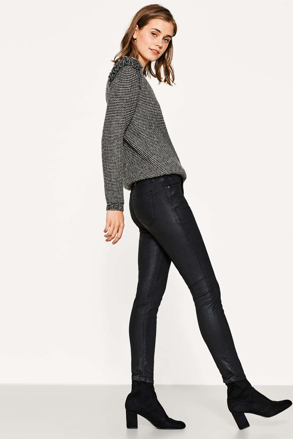 edc - Coated ankle-length stretch jeans