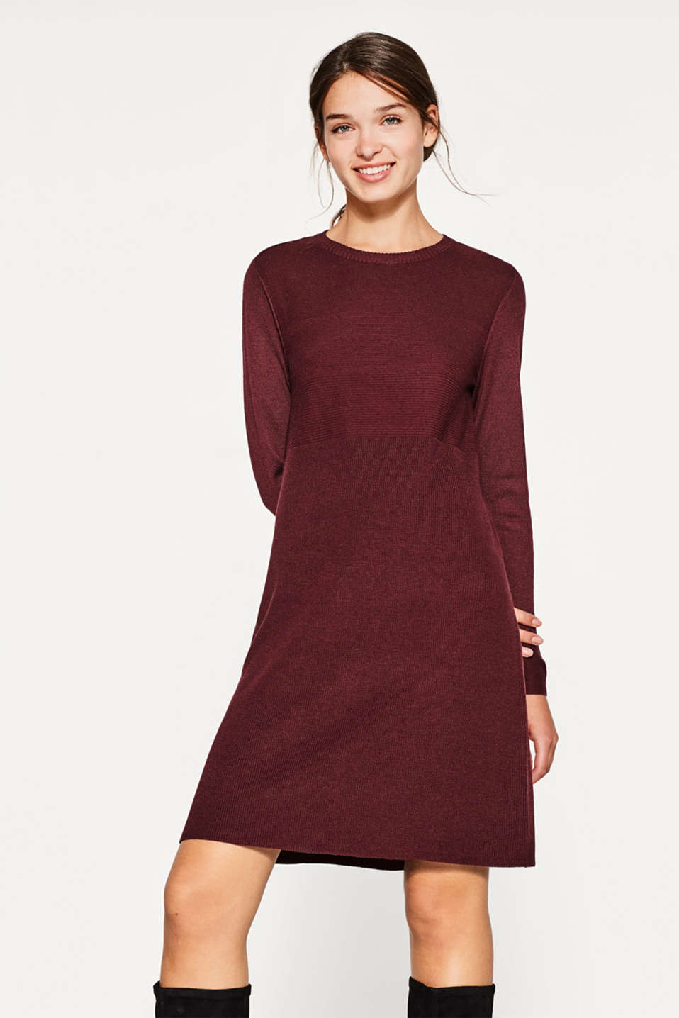 edc - Fine-knit dress with a textured mix