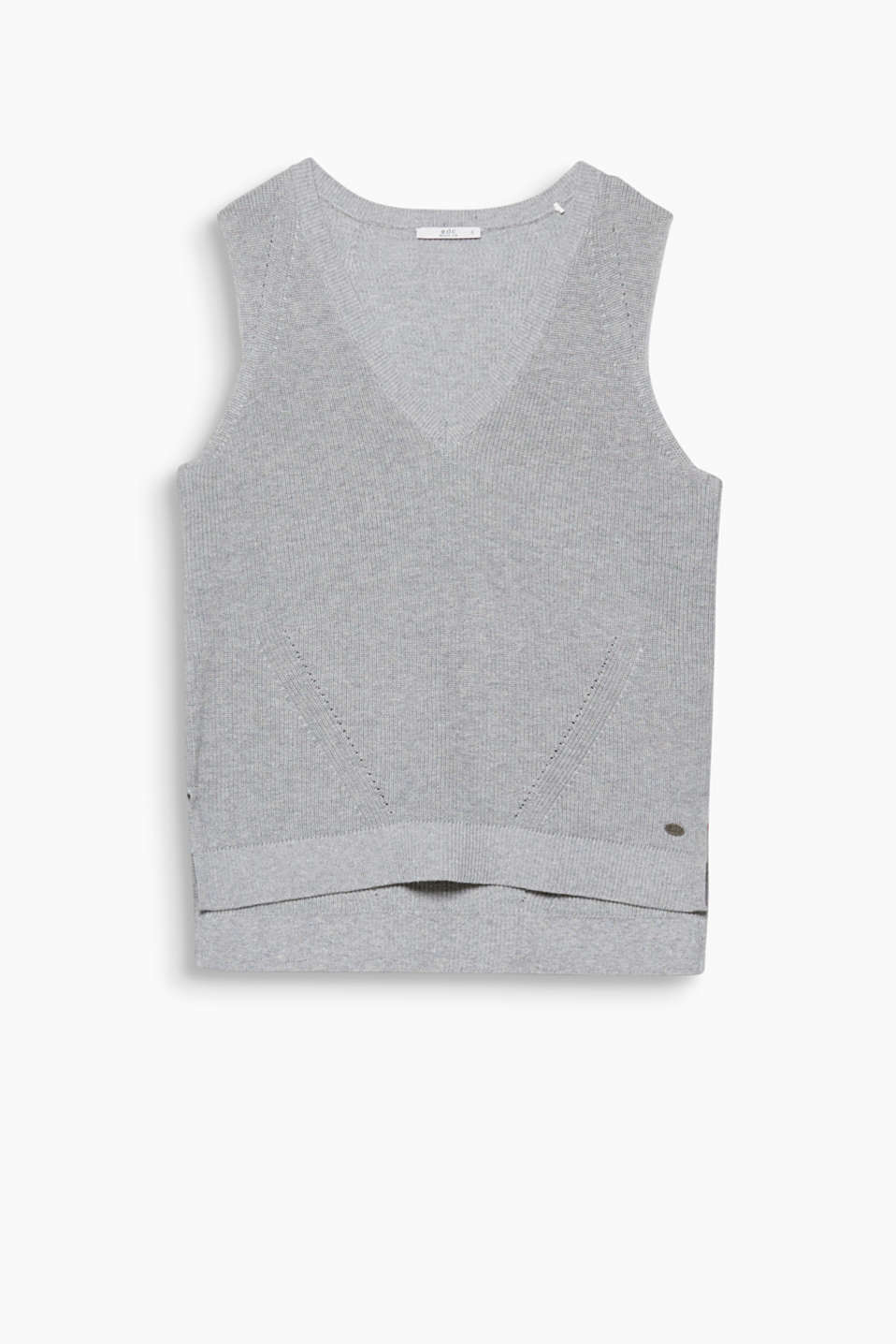 Trend piece: this tank top with a generous V-neckline and textured details is the piece missing from your look!
