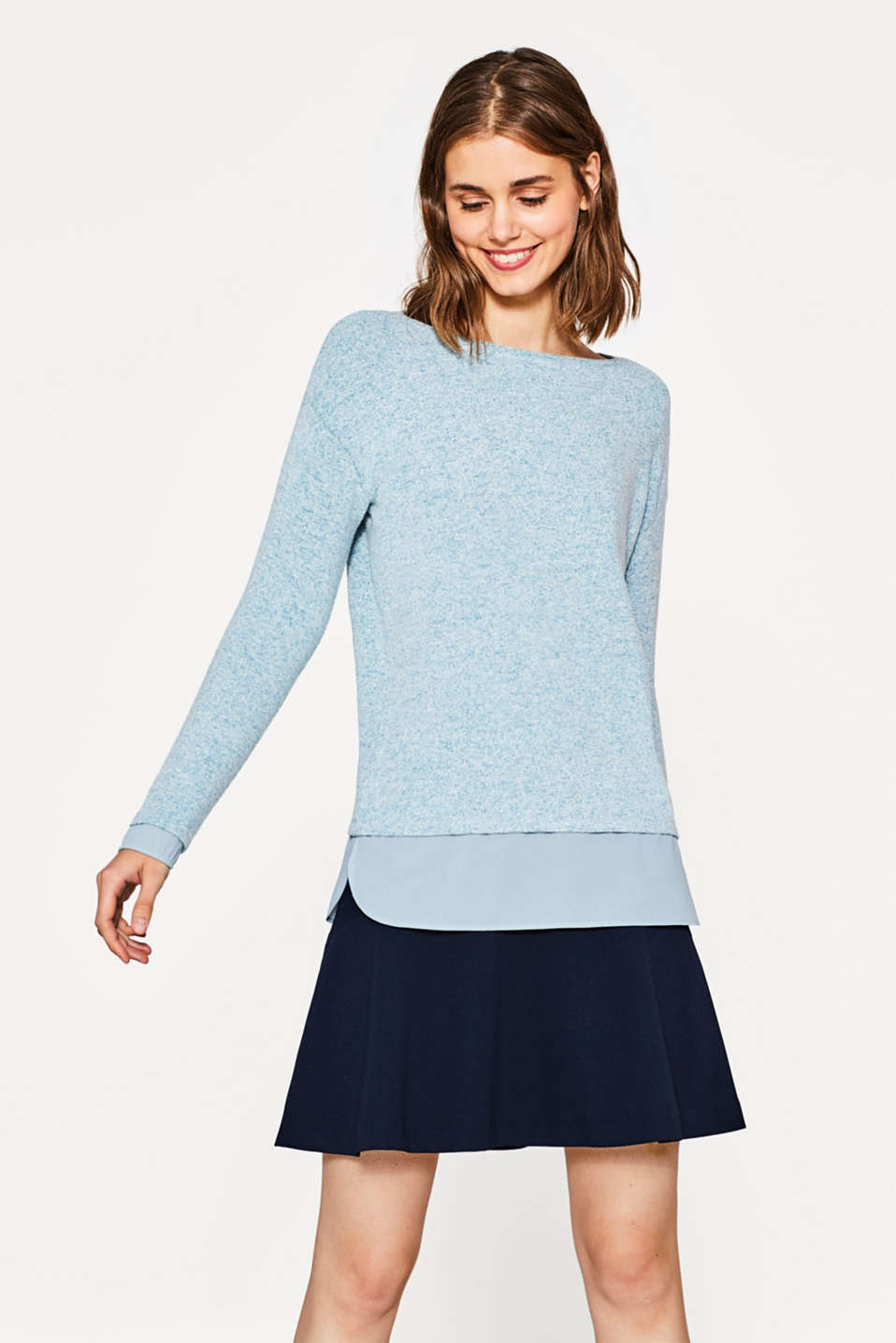 edc - Super softer Pullover mit Layerings
