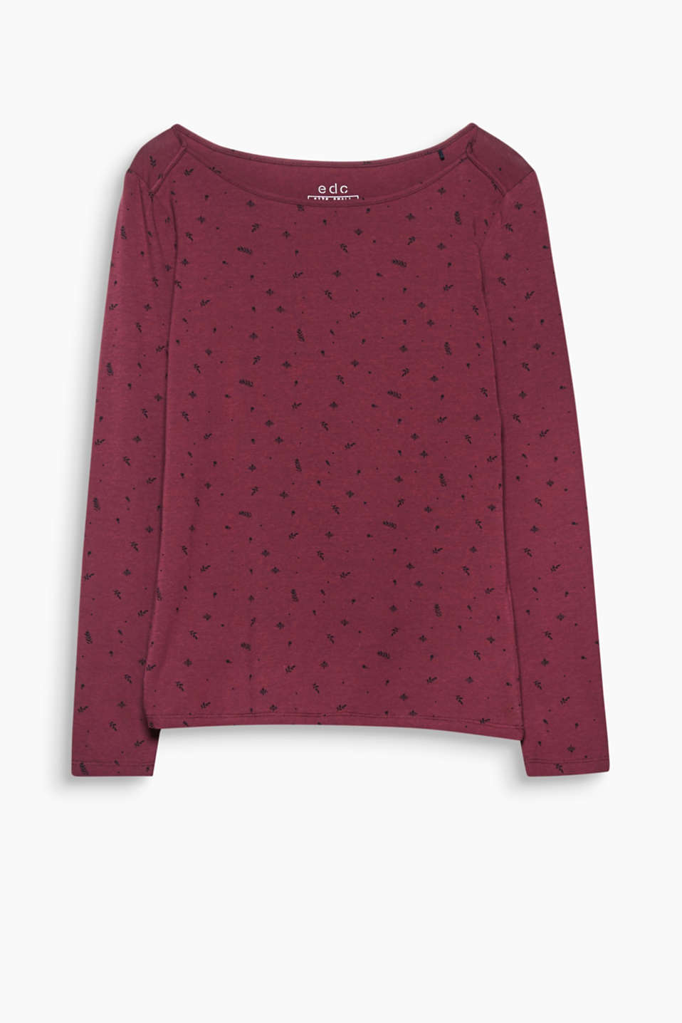 Twinkle, twinkle little star: the all-over print on this stretchy cotton, long sleeve top will never fail to turn heads.