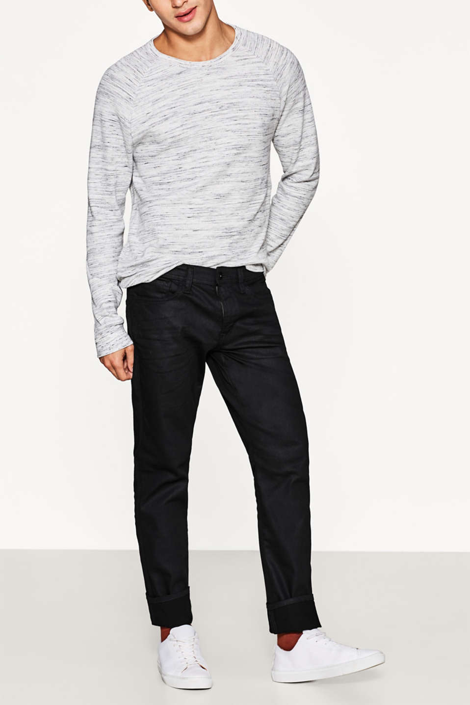 edc - Coated jeans, comfortabele stretch