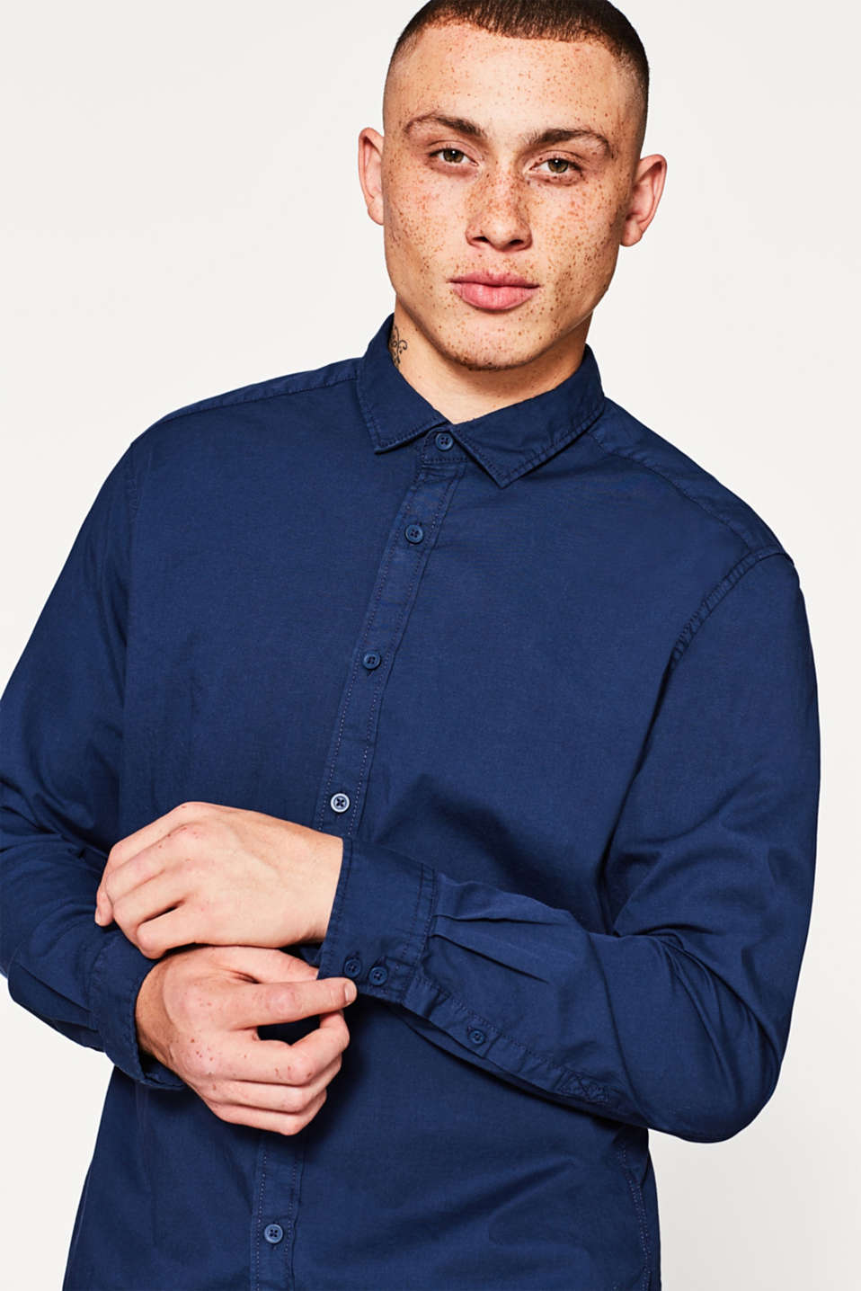 edc - Stretch shirt in pure cotton